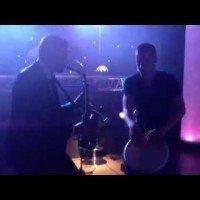 DJ met sax en percussie