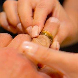 Ringen kwijt op huwelijksdag